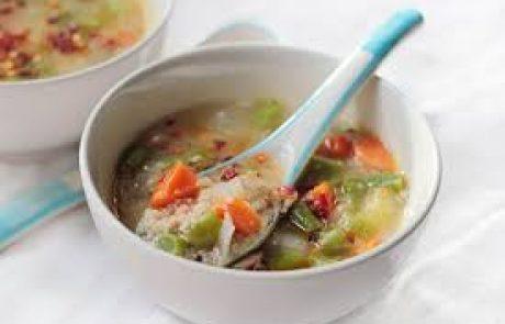 מרק ירקות עם דוחן ואצות